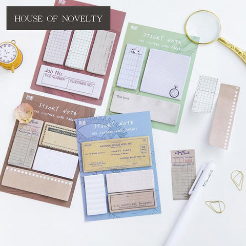 Vintage Sticky Notes Set
