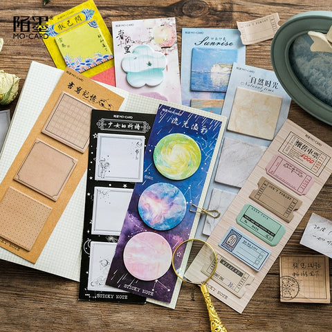 Sticky Note Set - Vintage Labels