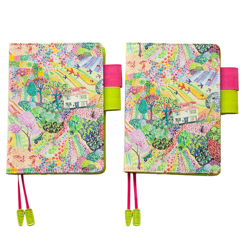 Whimisical Summer Garden Hobonichi A6 Cover