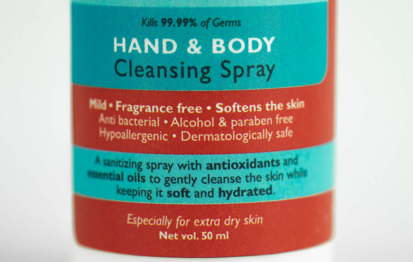 Hand and Body Cleansing Spray