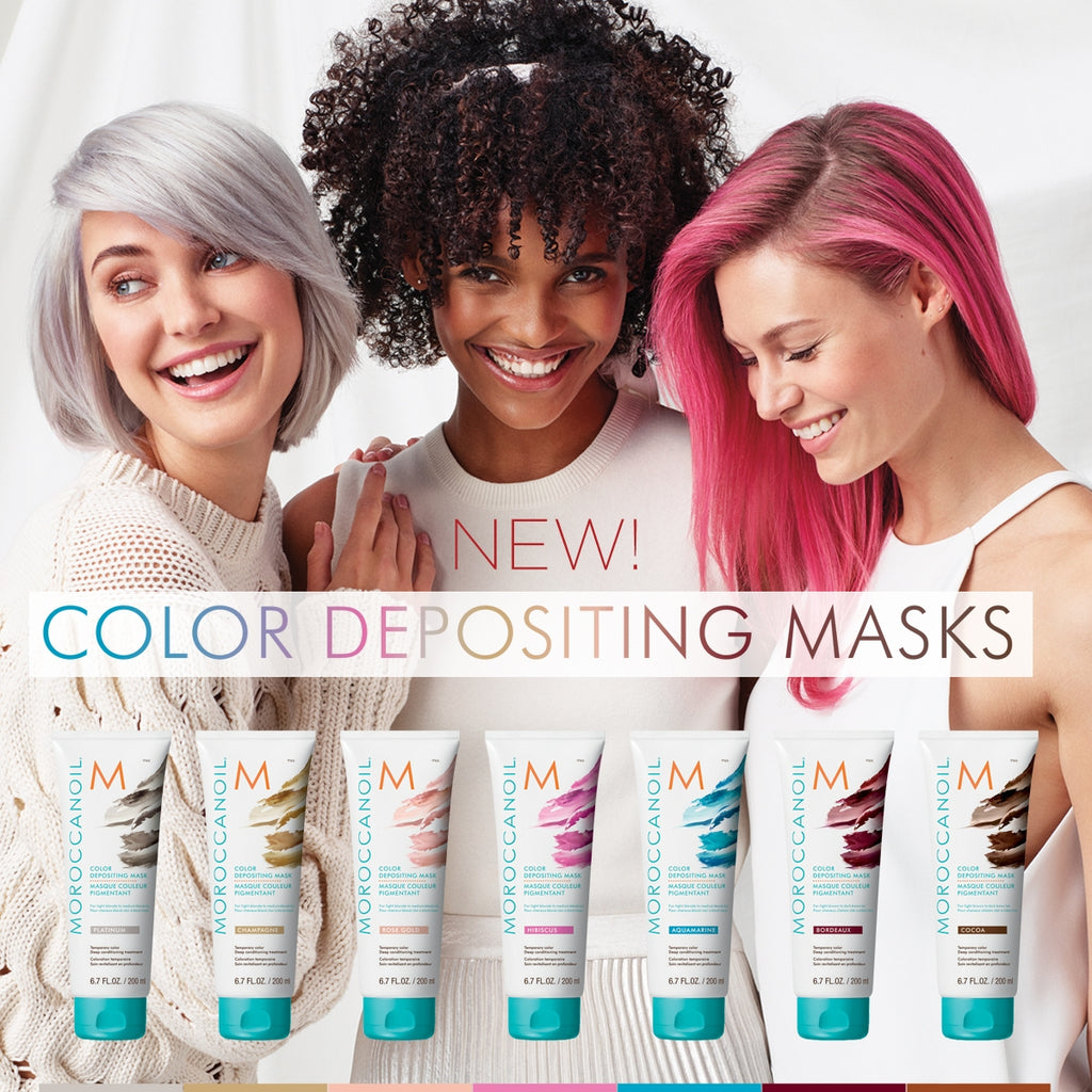 Moroccanoil Colour Depositing Masks DIY Purple