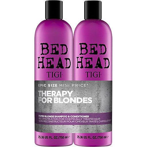 TIGI BEDHEAD DUMB BLONDE SHAMPOO & CONDITIONER SET 750ml
