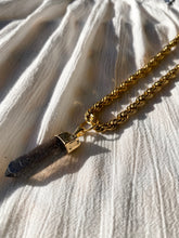 Load image into Gallery viewer, Rope Necklace with Smokey Quartz Crystal - Ola Wyola