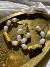Load image into Gallery viewer, XL Chakra Soul Chain Hoop Earrings w/ Vintage Silk, and African Beads. - Ola Wyola