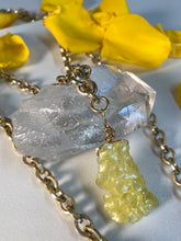 Load image into Gallery viewer, Shakti Chakra Soul Chain with Gold Layering Chain Rare Brucite Double Crystal