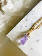 Load image into Gallery viewer, Dainty Baby Soul Chain w Lavender Fluorite Necklace