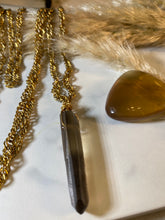 Load image into Gallery viewer, Golden Wrap Soul Chain  XL w Smokey Quartz Crystal