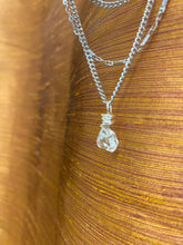 Load image into Gallery viewer, Dainty Baby Silver Soul Chain w Herikmer Diamond Quartz Crystal