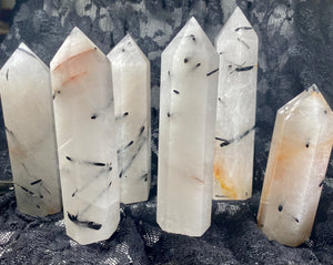Tourmalated Quartz Crystal Tower Point #5