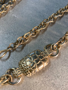 Tortoise Heart Soul Chain with Silvery Rare Chain w Laborite Crystal