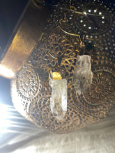 Load image into Gallery viewer, Chakra Powered Soul Chains w 24K Electroplated Gold Clear Quartz Crystals