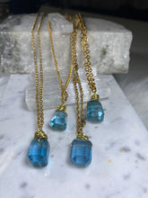 Load image into Gallery viewer, Dainty Soul Chain w Pillow Cut Blue Faceted Fluorite