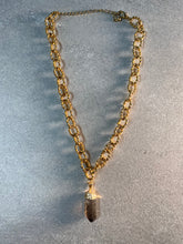 Load image into Gallery viewer, Dainty Baby Soul Chain Necklace with Smokey Quartz