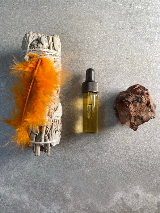 Quantum Kit Sacral Energy Clearing w/ our Organic Abundance Oil