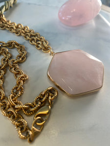 247 Soul Chain Necklace with Rose Quartz Crystal