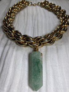 Venus - Akashic Records Collection-  Frequency Soul Chains Choker w Aventurine