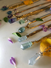 Load image into Gallery viewer, Dainty Baby Gold Soul Chain w Faceted Fluorite