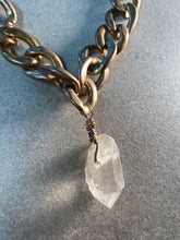 Load image into Gallery viewer, Chunky Mixed Metal Soul Chain w/ Chunky Clear Quartz