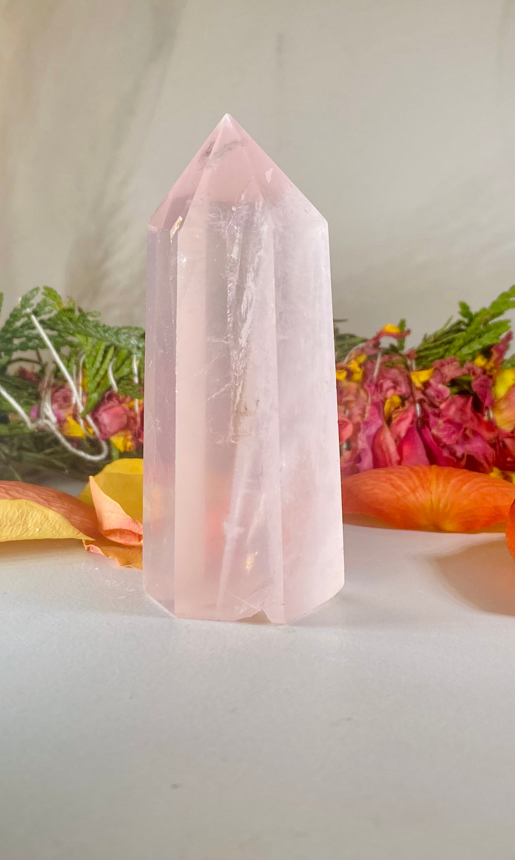 Rose Quartz Crystal Tower Point #2