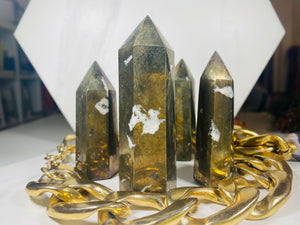 Pyrite Crystal Tower Point #2