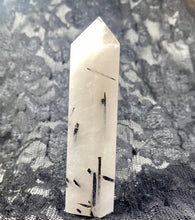 Load image into Gallery viewer, Tourmalated Quartz Crystal Tower Point #3