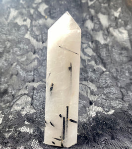 Tourmalated Quartz Crystal Tower Point #3