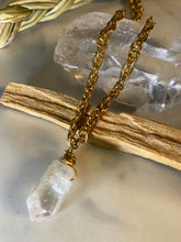 Load image into Gallery viewer, 247 Meets Dainty Soul Chain w Kunzite Crystal