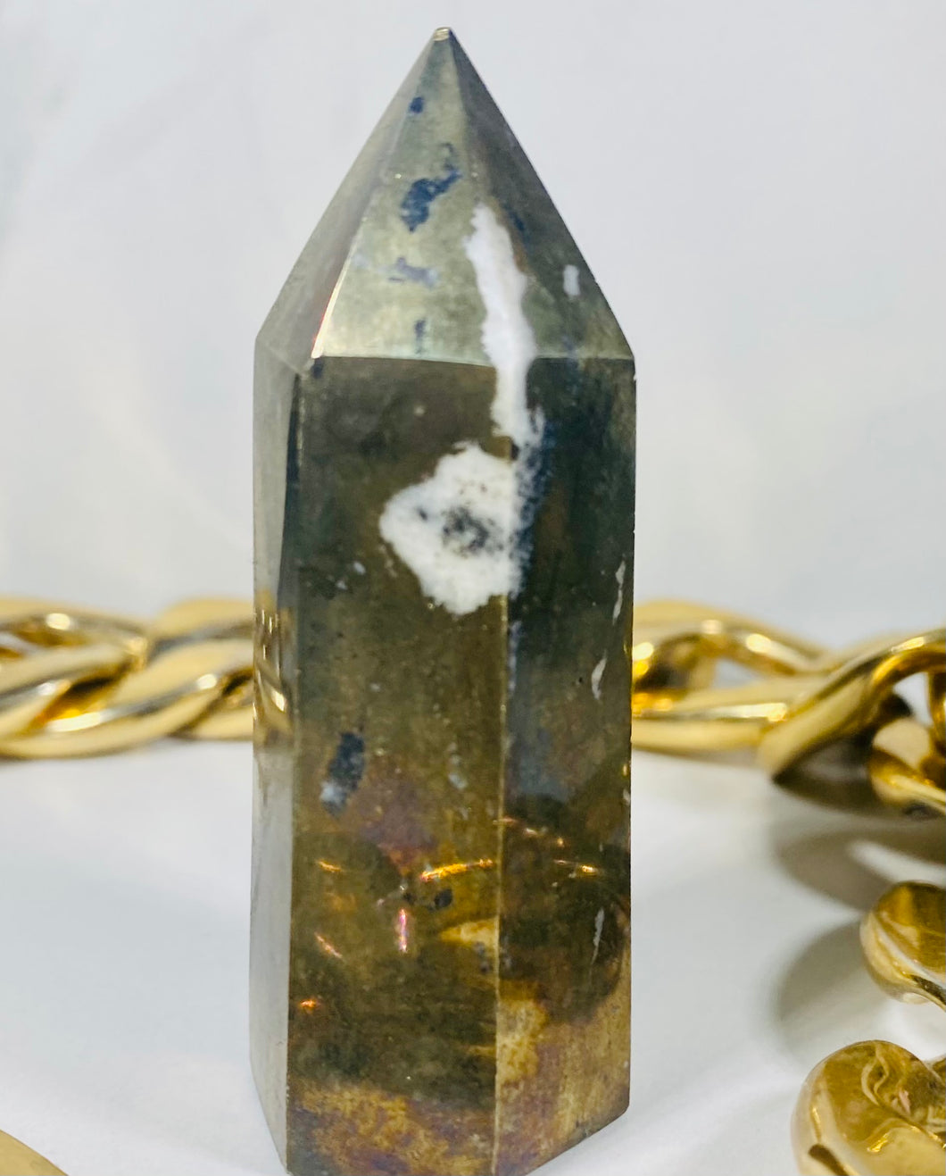 Pyrite Crystal Tower Point #4
