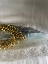 Load image into Gallery viewer, Soul Chain Gold Bracelet w Faceted Fluorite Crystal Bracelet