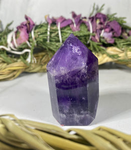 Dream Chevron Amethyst Crystal Tower Point #4