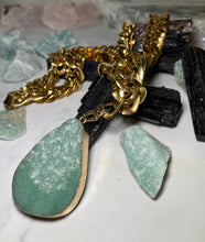 Load image into Gallery viewer, Chunky Gold Soul Chain with Aventurine Crystal