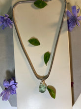Load image into Gallery viewer, Dainty Baby Silver  Soul Chain w, Pillow Faceted Fluorite