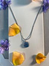 Load image into Gallery viewer, Dainty Baby Gold Soul Chain w, Pillow Faceted Fluorite