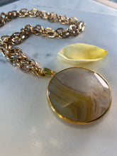 Load image into Gallery viewer, 247 Solar Plexus Soul Chain w/ Lemon Yellow Agate Crystal