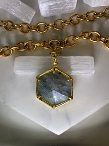 Hexagon Double Layering Soul Chain