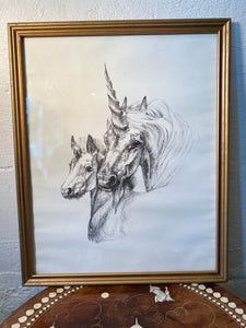 Unicorn Mama Vintage Art