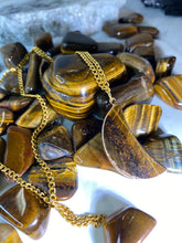 Load image into Gallery viewer, Magnetic Moon Soul Chain w Tigers Eye Crystal