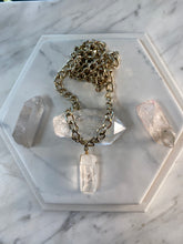 Load image into Gallery viewer, 247 Soul Chain Necklace w/ Chunky Clear Quartz