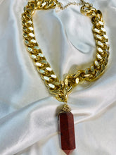 Load image into Gallery viewer, Sekhmet -  Akashic Records Collection - Soul Chains Necklace w Electroplated Tourmaline