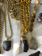 Load image into Gallery viewer, Rutilated Quartz Long Gold Soul Chain