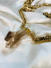 Load image into Gallery viewer, Ra - Akashic Records Collection - Soul Chains Necklace w Electroplated Tourmaline