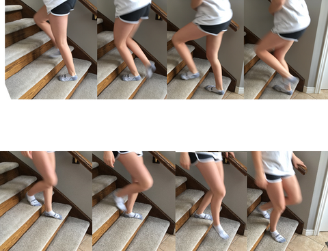 Stair exercise to strengthen balance and mobility, prevent falls