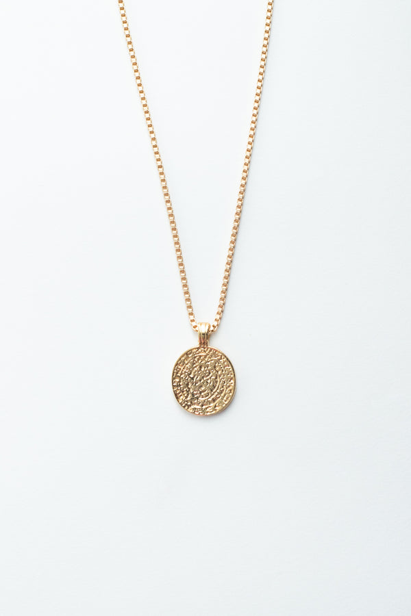 Hammered Medallion Necklace