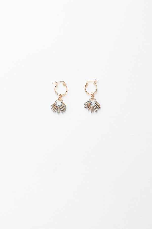 Metal Fringe Hoop Earrings