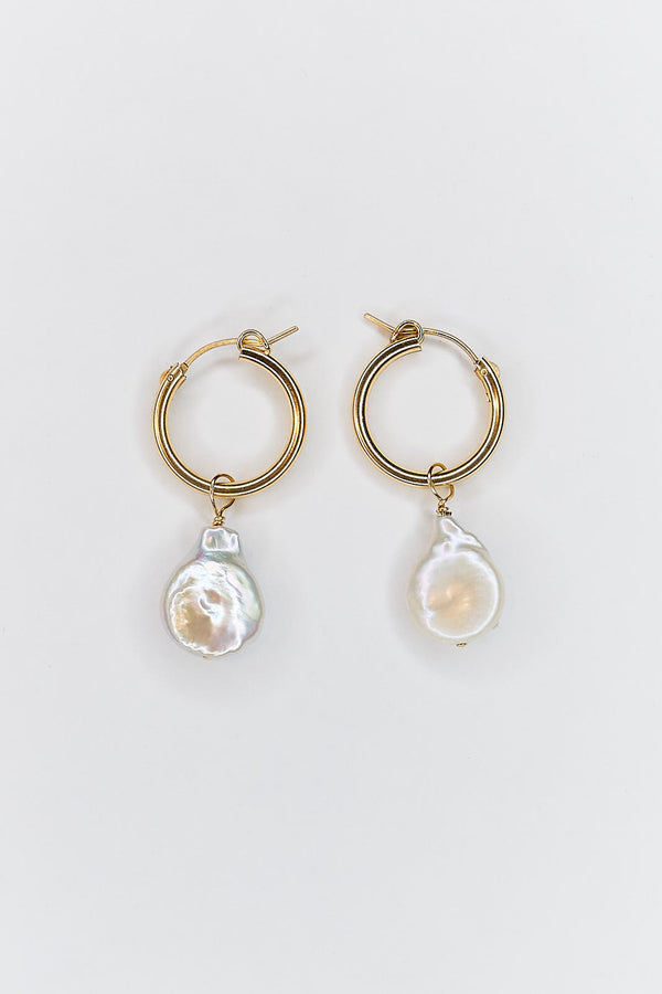Pearldrop Hoop Earrings