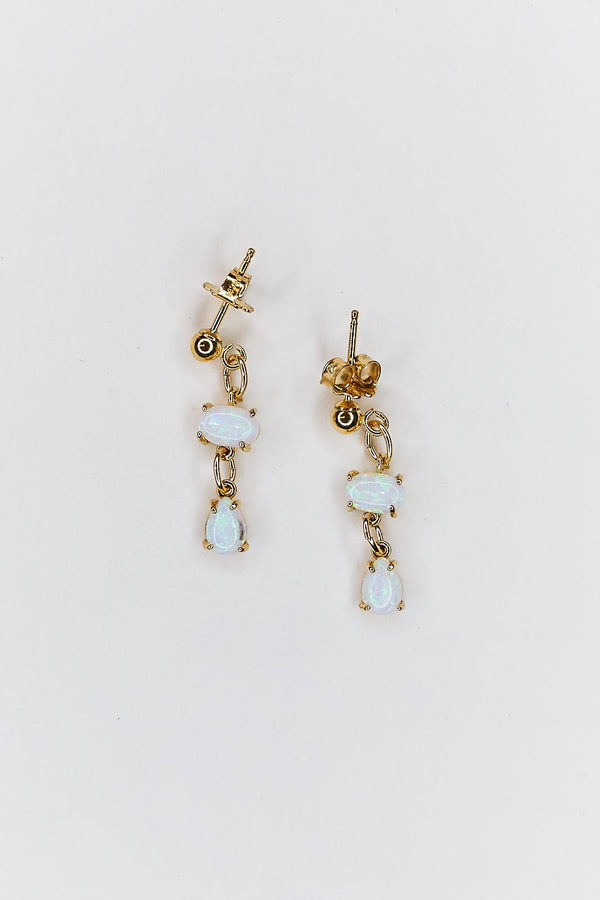 Opal Drop Stud Earrings