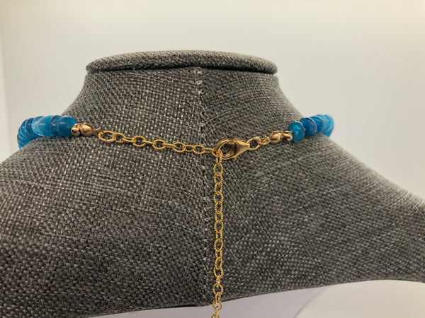 Blue Apatite Necklace