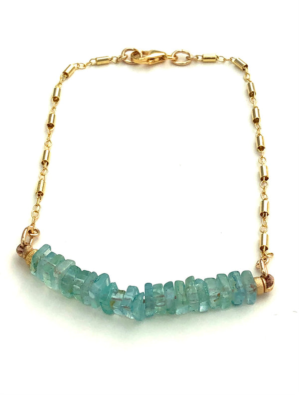 Aquamarine Candy Bar Bracelet WJ19