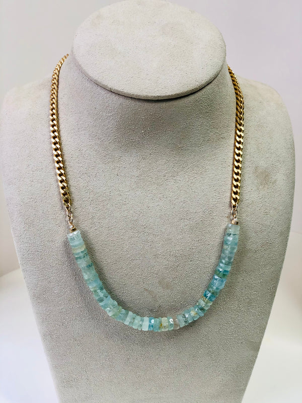 Candy Aquamarine Necklace