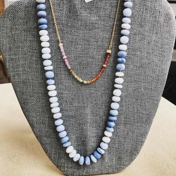 One of a kind Blue Opal Candy Necklace